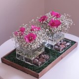リングのための花のギフト用の箱のローズ卸し売りアクリルのボックス