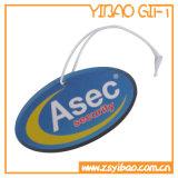 Véhicule fait sur commande de papier de parfum de qualité/refraîchissant automatique de parfum d'air avec l'impression de logo (YB-AF-08)