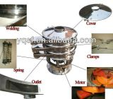 Tamiz vibratorio rotatorio eléctrico del acero inoxidable