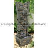 De beste Steen van de Baksteen van de Prijs Modieuze Fontein van het Water van de Tuin van Polystone van Zes Laag de Openlucht met LEIDEN Licht