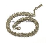 Bola de latón artesanal cadena o cordón Pulsera de cadena con un círculo de la cadena de enlaces