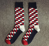 Der Form-Socken britische Rasterfeld-Steigung-Baumwolqualitäts-bunten Männer