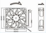 вентилятор DC 12V 24V 120mm безщеточный Axail 120X120X32mm