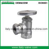 Kundenspezifisches Qualität chromiertes Messingwinkel-Kugelventil (AV3018)
