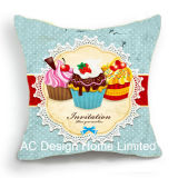 Princess Square party Cup Cake Design Decor Fabric Cushion W/Filling