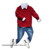 男の子のステレオの編まれたプルオーバーのセーターの子供の衣服