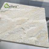 Mattonelle beige bianche della quarzite per il rivestimento e la pavimentazione della parete
