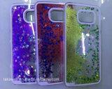 中国の卸し売り3DパソコンのSamsungギャラクシーJ2/J5/J7流砂の携帯電話カバーケースのための液体の星の砂の電話箱