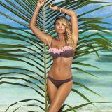 Heißer Verkaufs-Bikini mit Blume an herum