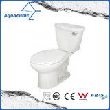 Siphonic 1.28gpf choisissent la toilette oblongue en deux pièces affleurante (ACT9059)