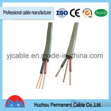 Del PVC de aislante del material cable de la energía eléctrica del gemelo y de la tierra completamente