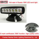 luz del trabajo de 18W 6.3inch E-MARK LED para el infante de marina (GT1012-18W)