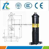 Support de montage avant cylindre hydraulique télescopique pour les camions à benne