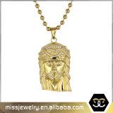 La partie saoudienne de Jésus d'or charme le collier pendant Mjhp070