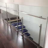 Glass balustrade with PVC Handrail/Stairs Railing Glass Railing