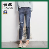 Pantalones vaqueros delgados de Legging del ajuste de la alta cintura para las mujeres
