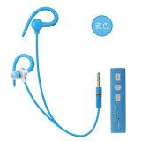Earbuds senza fili mette in mostra le cuffie combinate con il trasduttore auricolare stereo dell'amo dell'orecchio di sport del Mic