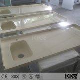 Kingkonree personnalisé haut de la vanité de Surface solide avec CNC sculpter