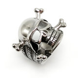 Anello dei monili di modo dell'uomo della decorazione nuovo del cranio punk dell'argento