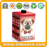 ペットフードは猫またはドッグビスケットのクッキーのための錫ボックスを扱う
