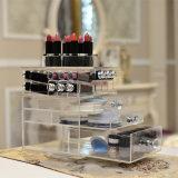 Organizador de acrílico modificado para requisitos particulares estilo popular de los lápices labiales de la talla de Yageli
