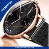 Mehrfache Zeit-Zonen-komplette Kalender-Wochen-Form-Quarz-Armbanduhr