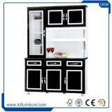 Cabinetry feito sob encomenda branco e preto vitrificado da cozinha e gabinete de cozinha