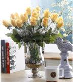 Künstliche antike Rosen-Großhandelsblumen-gefälschte Blumen, die künstliche Blumen-reales Noten-künstliche Blumen-Rot Rose Wedding sind