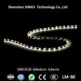 360 lumière de bande flexible S de la forme Bendable 3528 SMD DEL du degré pour des signes