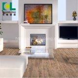 Le bois en vinyle de luxe de gaufrage PVC planche de revêtement de sol de mosaïque, ISO9001 Changlong Clw-18