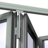Dubbel Verglaasd Aluminium Frameless die het Venster van het Glas vouwen