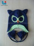 フクロウの形の流行の編まれた帽子