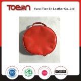 赤いPVC円形の装飾的な袋