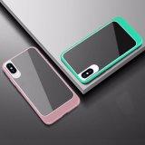 2 em 1 caixa Shockproof desobstruída acrílica luxuosa do telefone móvel para o iPhone X