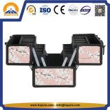 Violet Sakura transportant de l'aluminium cas maquillage (HB-6311)