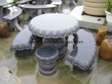 De Lijst van de Steen van het Meubilair van de tuin & de Stoel Opgepoetste Stoel van de Kruk van het Graniet van de Oppervlakte Grijze