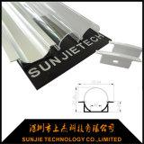 Silber anodisiertes 6063-T5 Aluminium-LED Gehäuse für LED-Streifen