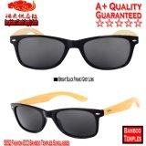 5052 lunettes de soleil en bambou de tempes d'Eco de mode