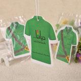 T-Shirt de prendas de vestir de forma papel perfumado colgando Ambientador (YH-AF517)