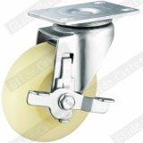 Mittlere Fußrolle der Aufgaben-pp. mit seitlicher Bremse (runde Oberfläche) (G3102)