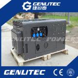 Генератор охлаженный воздухом Вертикальн-Вала 2 цилиндра тепловозный супер молчком 10kw