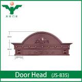 Le bois européen d'entrée de villa de type conçoit des en-têtes de porte pour la villa