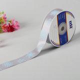 Una cara de 1 pulgada de cinta de satén impresos personalizados para la decoración de embalaje de regalo