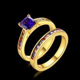 Juwelen van Custome van de Ring Zircon van de manier K de Gouden Dubbele
