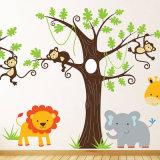 Costume engraçado etiquetas animais impressas personalizadas da parede para quartos dos miúdos