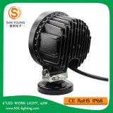 安いLED作業ライト12V 4インチ42W円形の自動働くライトトラクター