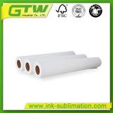 La alta calidad 58gramos la sublimación de secado rápido, rollo de papel tamaño