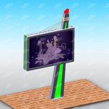 Sinalização externa Piscina açambarcamento de postes de placa de aço Trivision Outdoor outdoor