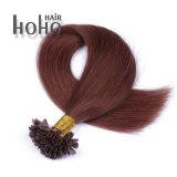 まっすぐな波の赤いカラー18インチの釘の先端の人間の毛髪