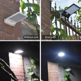 Lumières solaires imperméables à l'eau extérieures de mur de rue de la lumière 36 DEL de garantie avec monter Pôle